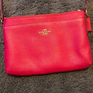 Hot pink coach crossbody purse
